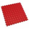 Dalle PVC clipsable - Motif diamant - Gamme industry - Couleur rosso rouge