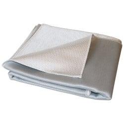 Toile anti chaleur 650°C - Tissu fibre de verre polyuréthane 1 face