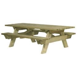 Table de pique nique PMR en bois Berlin - Pin épaisseur 45 mm