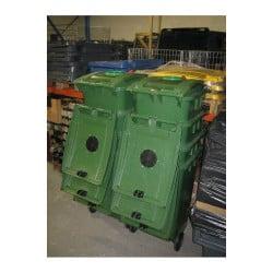 Conteneur verre 120L 2 roues