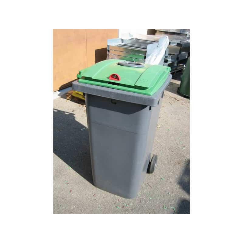 Conteneur verre 240L 2 roues - Conteneur poubelle