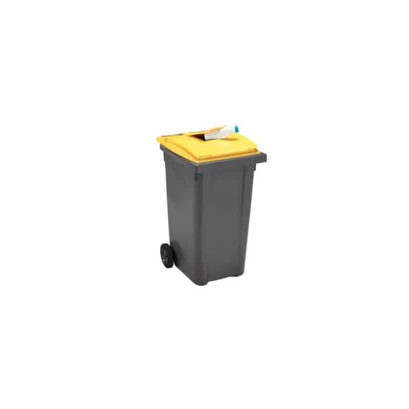 Poubelle emballages 120L 2 roues - Conteneur poubelle