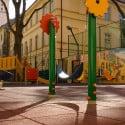 Dalle de sol amortissante aire de jeux 50x50 cm
